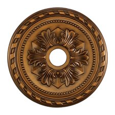 "22"" Corinthian Medallion in Antique Brass"