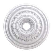 "24"" English Study Medallion in White"