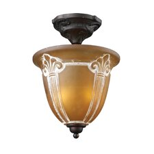 <strong>Landmark Lighting</strong> Restoration 2 Light Semi Flush Mount