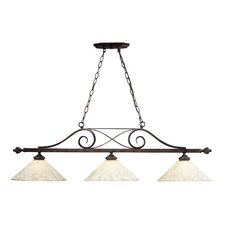 Billiards (Section) 100W 3 Light Pendant