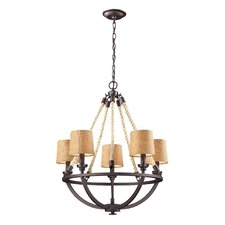 Natural Rope 5 Light Chandelier