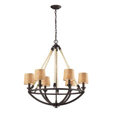 Natural Rope 6 Light Chandelier