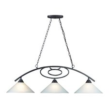 Billiards (Section) 3 Light Pendant