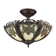 Mount Bethel 2 Light Semi-Flush Mount