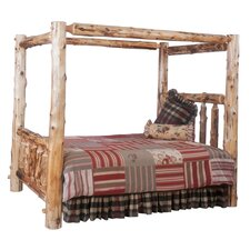 Traditional Cedar Log Four Poster Bedroom Collection