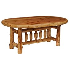 <strong>Fireside Lodge</strong> Traditional Cedar Log 5 Piece Dining Set