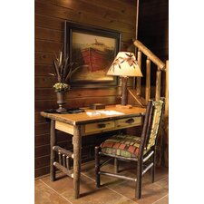 <strong>Fireside Lodge</strong> Hickory 2 Drawer Writing Desk and Chair Set