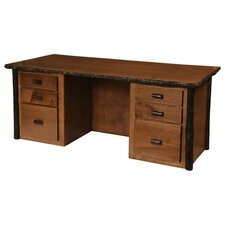 Hickory Executive Standard Desk Office Suite
