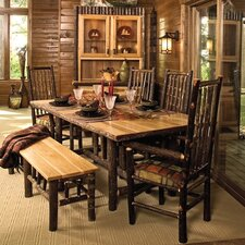 <strong>Fireside Lodge</strong> Hickory 6 Piece Dining Set