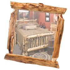 Traditional Cedar Log Mirror