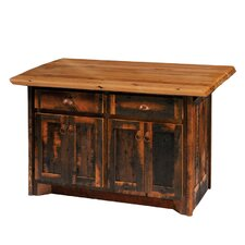 Reclaimed Barnwood Kitchen Island with Formica Top