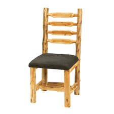 <strong>Fireside Lodge</strong> Traditional Cedar Log Upholstered Side Chair