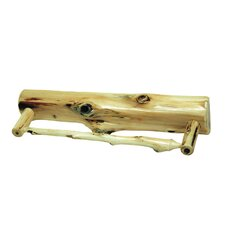 <strong>Fireside Lodge</strong> Traditional Cedar Log Towel Bar