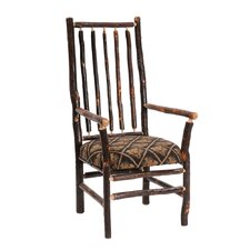 <strong>Fireside Lodge</strong> Hickory Spoke Back Arm Chair