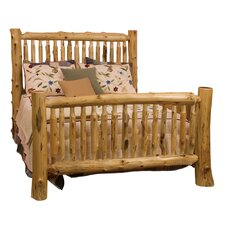 Spindle Cedar Log Slat Bed