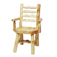 <strong>Fireside Lodge</strong> Traditional Cedar Log Arm Chair