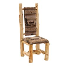 <strong>Fireside Lodge</strong> Traditional Cedar Log High Back Side Chair