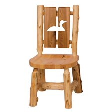 Traditional Cedar Log Cut Out Side Chair (Set of 2)