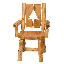 Traditional Cedar Log Cut Out Arm Chair