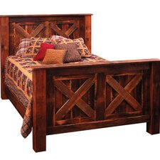 <strong>Fireside Lodge</strong> Reclaimed Barnwood Panel Bed