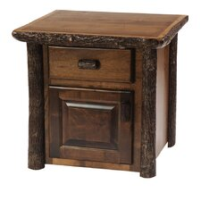 <strong>Fireside Lodge</strong> Hickory Enclosed End Table