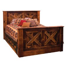 Reclaimed Barnwood Panel Drawers under bed