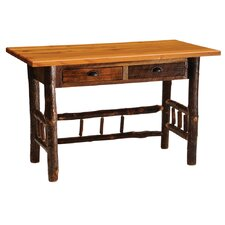 Reclaimed Barnwood Writing Desk with 2 Drawers