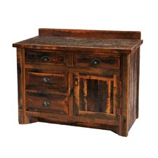 "<strong>Fireside Lodge</strong> Reclaimed Barnwood 42"" Bathroom Vanity Base"