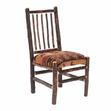 <strong>Fireside Lodge</strong> Hickory Spoke Back Fabric Side Chair