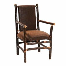 <strong>Fireside Lodge</strong> Hickory Back Fabric Arm Chair