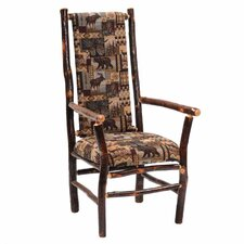 <strong>Fireside Lodge</strong> Hickory High Back Fabric Arm Chair