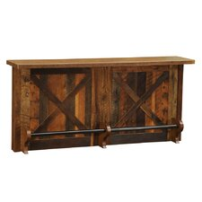 Barnwood Home Bar With Sink