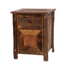 <strong>Fireside Lodge</strong> Reclaimed Barnwood Nightstand
