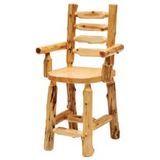 <strong>Fireside Lodge</strong> Cedar Ladderback Arm Chair