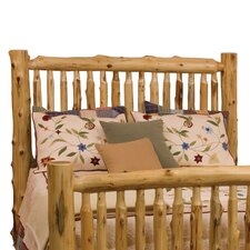 <strong>Fireside Lodge</strong> Traditional Cedar Log Spindle Headboard