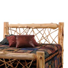 <strong>Fireside Lodge</strong> Traditional Cedar Log Headboard