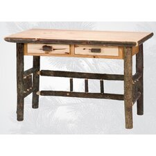 <strong>Fireside Lodge</strong> Hickory 2 Drawer Writing Desk