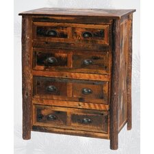 <strong>Fireside Lodge</strong> Reclaimed Barnwood 4 Drawer Chest