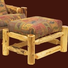 <strong>Fireside Lodge</strong> Traditional Cedar Log Ottoman