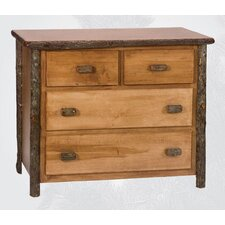<strong>Fireside Lodge</strong> Hickory 4 Drawer Dresser