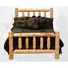 Traditional Cedar Log Slat Bed