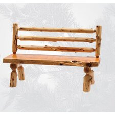 Traditional Cedar Log Bench