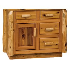"<strong>Fireside Lodge</strong> Traditional Cedar Log 42"" Bathroom Vanity Base"