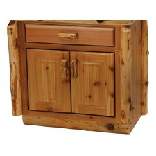 "Traditional Cedar Log 30"" Bathroom Vanity Base"