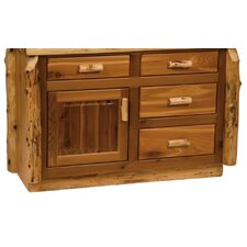 "<strong>Fireside Lodge</strong> Traditional Cedar Log 48"" Bathroom Vanity Base"