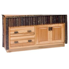 "<strong>Fireside Lodge</strong> Hickory 60"" Bathroom Vanity Base"