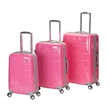 <strong>Rockland</strong> Celebrity 3 Piece Polycarbonate/ABS Spinner Luggage Set