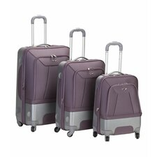 Rome 3 Piece Hybrid EVA/ABS Spinner Luggage Set