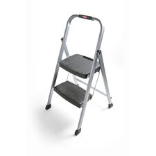 Folding 2-Step Steel Frame Step Stool