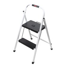 Folding 2-Step Lightweight Steel Frame Step Stool